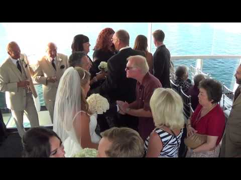 Electra Cruises Wedding on Athena Yacht in Newport Beach by Cheap Wedding Videographer