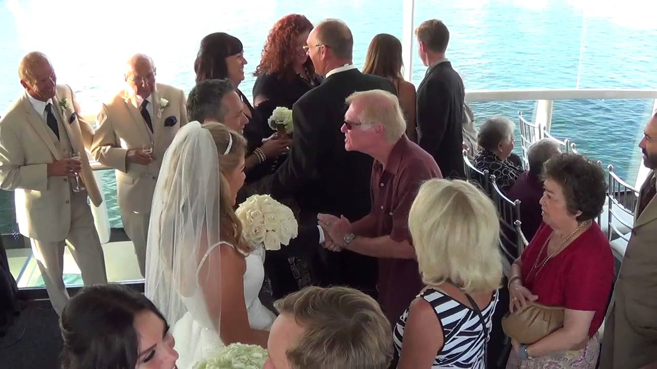 Electra cruises wedding on athena yacht in newport beach for Affordable wedding videographer