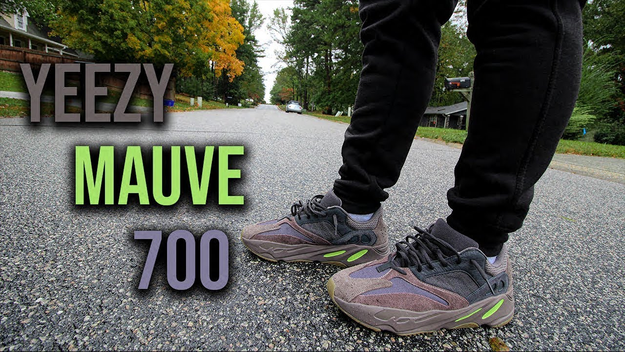 3f47e4ebc307c4 ADIDAS YEEZY 700 MAUVE REVIEW AND ON FOOT - YouTube