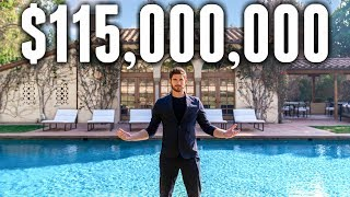 Touring A Massive $115 Million California MEGA MANSION