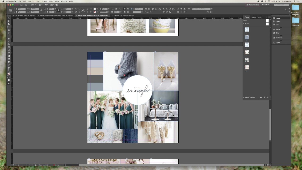 How To Design A Mood Board With InDesign YouTube