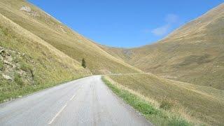 France: the road up to Notre-Dame de La Salette (Alps)