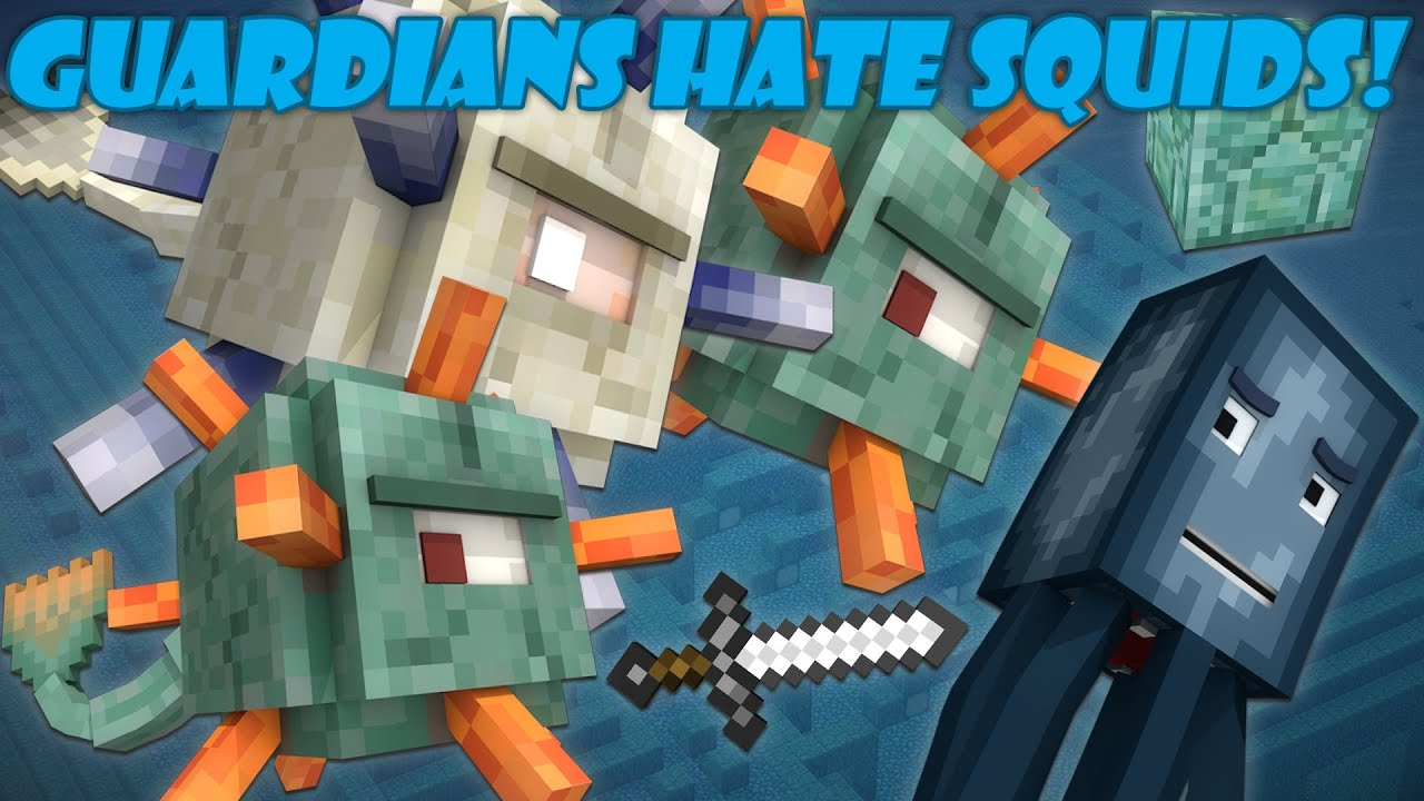 Why Guardians Hate Squids – Minecraft