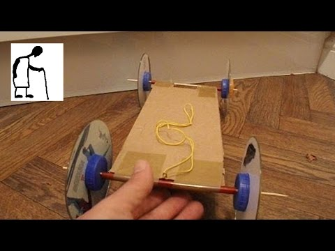 Hey Grandad - rubber band powered car without hot glue?