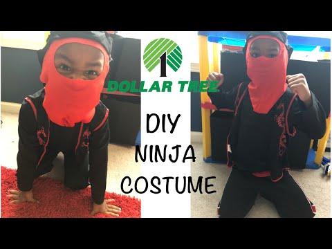 DIY DOLLAR TREE KIDS NINJA HALLOWEEN COSTUME| UNDER 5 ...