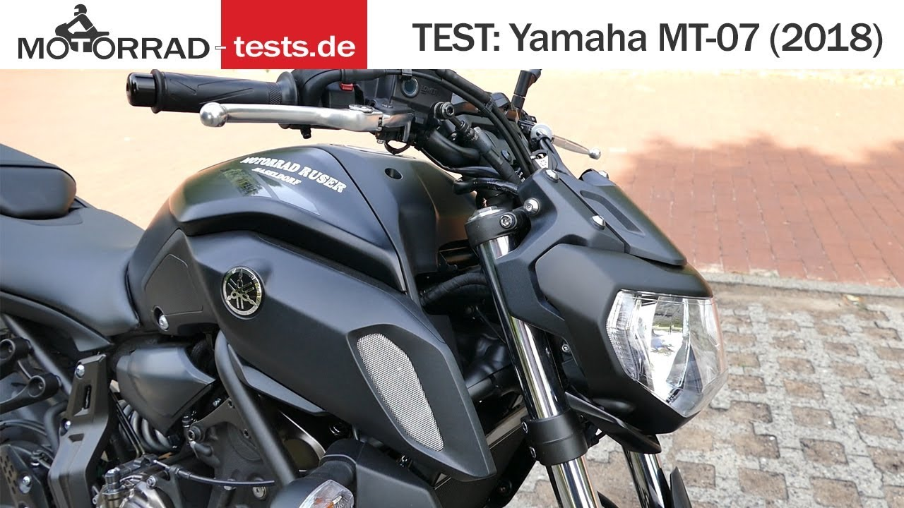 yamaha mt 07 2018 test deutsch youtube. Black Bedroom Furniture Sets. Home Design Ideas