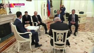 Владимир Путин и Башар Асад на встрече в Москве о Сирии