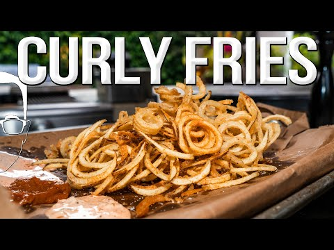 THE ULTIMATE CURLY FRIES RECIPE | SAM THE COOKING GUY 4K
