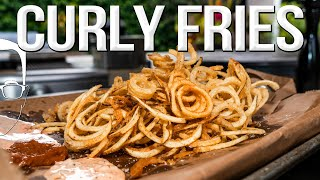 THE ULTIMATE CURLY FRIES RECIPE  SAM THE COOKING GUY 4K