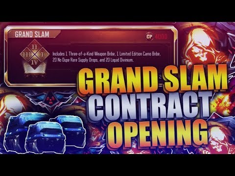 """NEW """"Grand Slam"""" Contract Unlocking in Black Ops 3! (BO3 New Contract Opening)"""