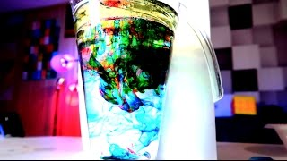 Underwater Fireworks with Food Coloring Science Experiment!! SO COOL!