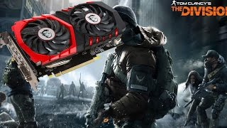 Benchmark MSI GeForce GTX 1050 Gaming X | The Division | GeForce Experience Optimized