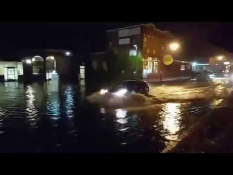 Flooding in Worcester (shot by Eric Lindquist)