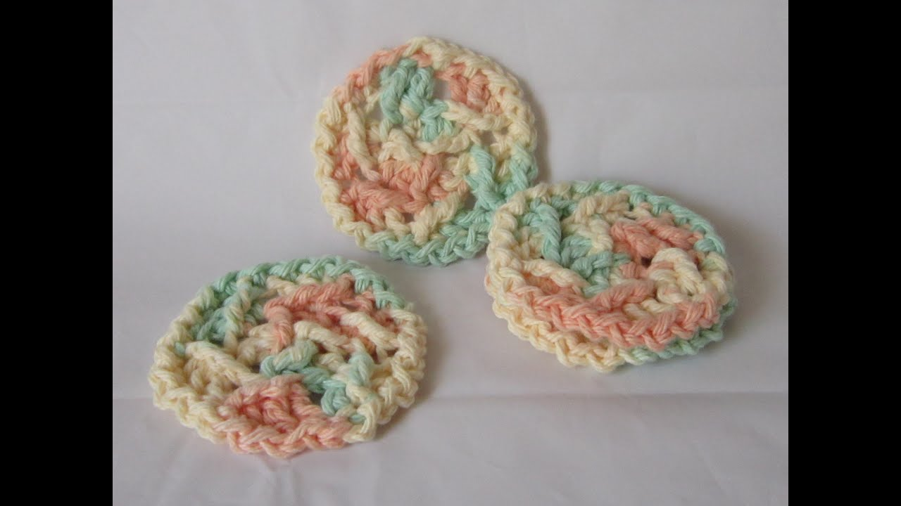 Crochet a Textured Face Scrubby: Part 1 - YouTube