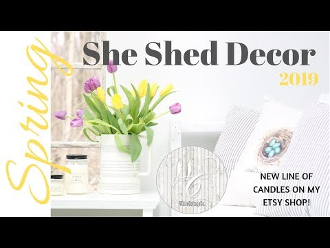Spring Shed Decor~She Shed Spring Decor~Soy Candles