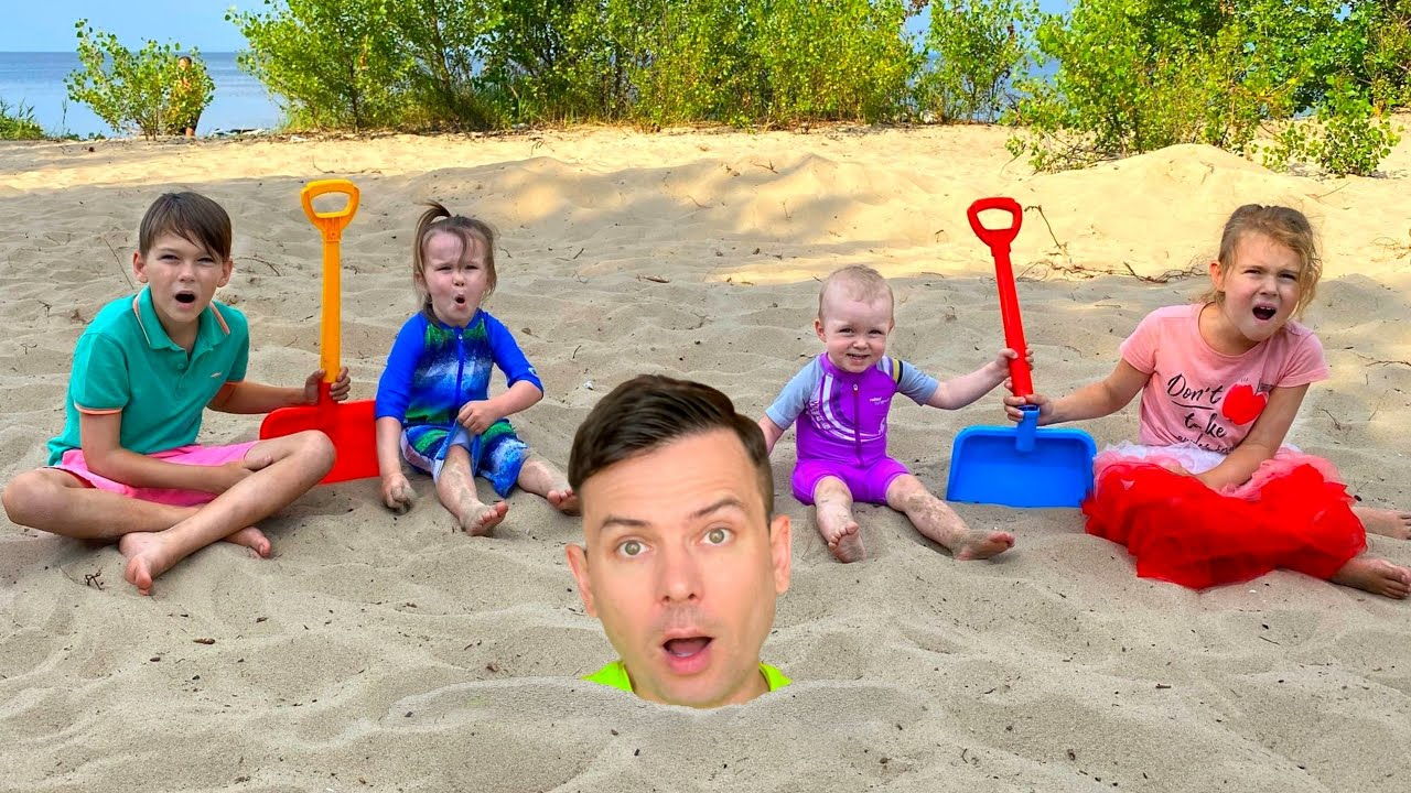 Five Kids Beach Song + More Children's Songs and Videos
