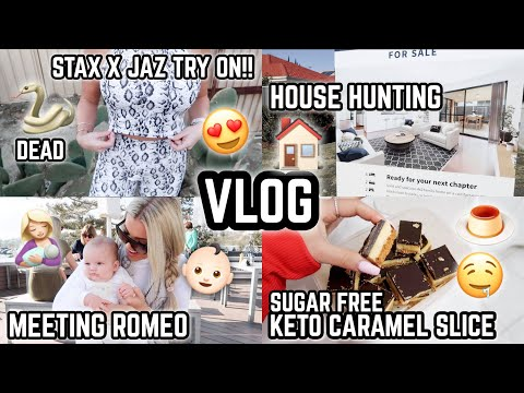 WEEKLY VLOG 🎥 MY ACTIVEWEAR TRY ON 😱😍  HOUSE HUNTING 🏠  CLUCKY?? 👶🏻 KETO TREATS 🍫 JAZ HAND