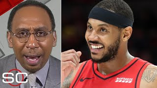 Stephen A. reacts to Carmelo Anthony's game-winner vs. the Raptors | SportsCenter