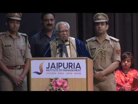 Shri Ram Naik, Hon'ble Governor, Uttar Pradesh at Jaipuria's 21st Convocation