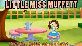 Little Miss Muffet HD with Lyrics - Nursery Rhymes by EFlashApps
