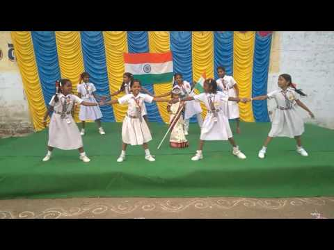 Desam Manade Song Dance Performance At Republic Day Celebrations Ushodaya Schools Chilamkur