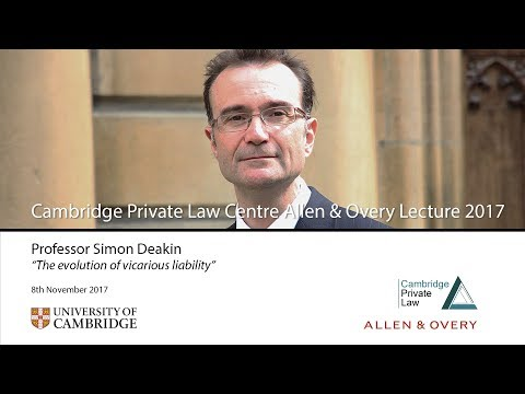 'The evolution of vicarious liability': 2017 Allen & Overy L