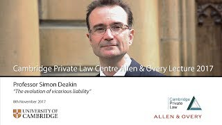 'The evolution of vicarious liability': 2017 Allen & Overy Lecture