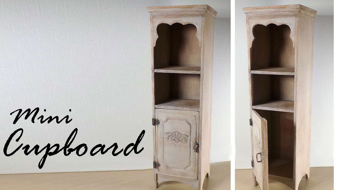 Miniature Furniture; Cupboard / Cabinet Tutorial - Dolls/Dollhouse ...