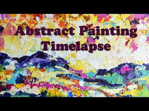 Abstract Painting Timelapse DEMO // Abstract Landscape Palette Knife Painting