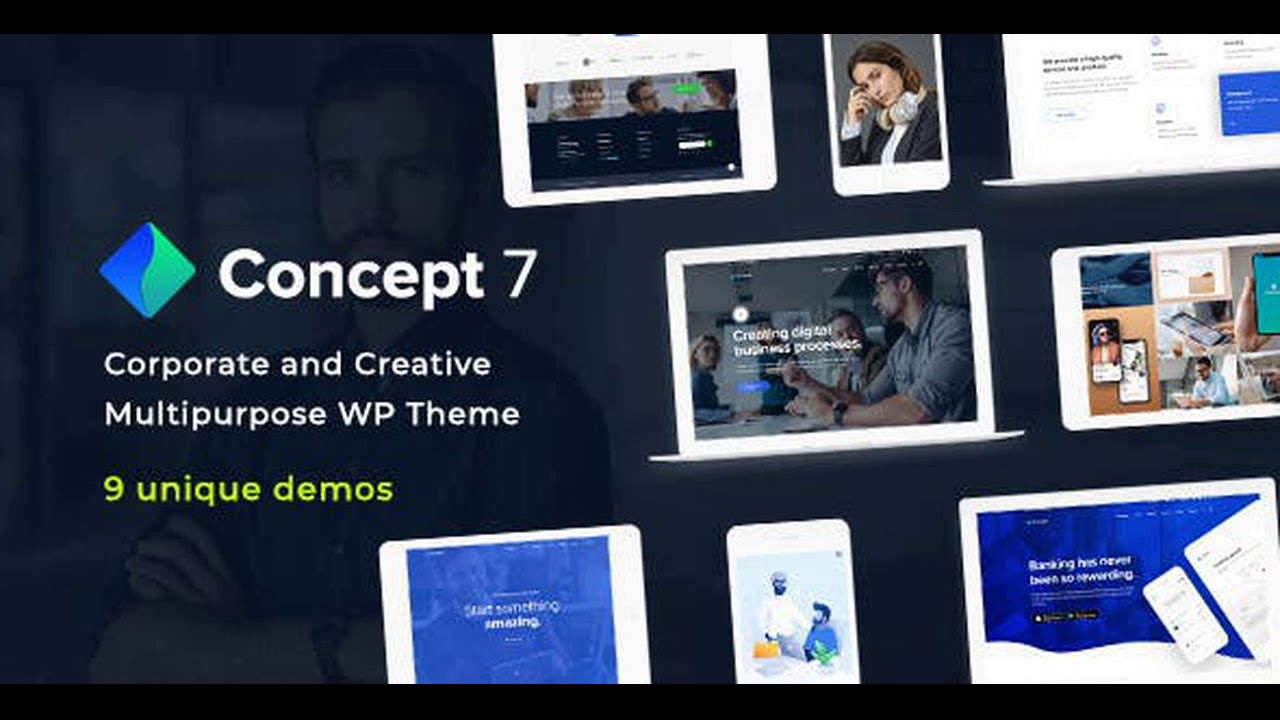 Concept Seven | Responsive Multipurpose WordPress Theme Nulled