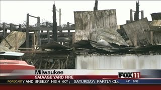Milwaukee salvage yard fire