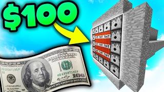 $100 MINECRAFT TNT WARS!