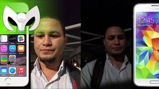iphone plus 6 vs galaxy s5 cmara video audio completo