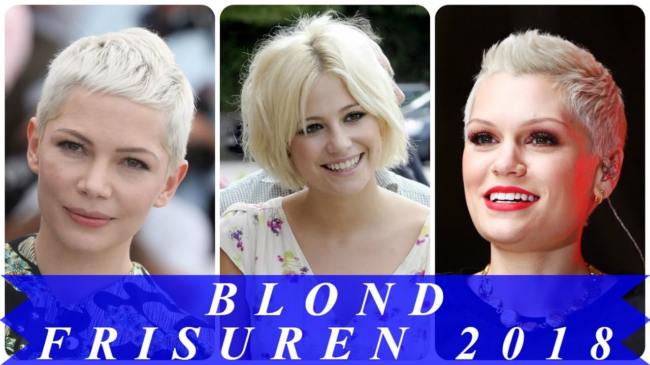Frisur Blond Coole Kurzhaarfrisuren Blond 2018