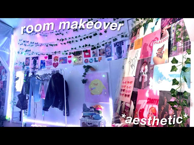 ULTIMATE ROOM MAKEOVER + transformation *aesthetic room tour*