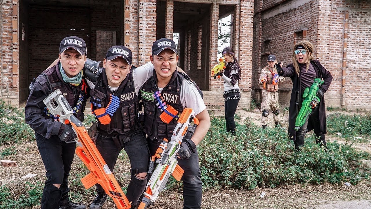 LTT Game Nerf War : Apprentice Soldiers SEAL X Nerf Guns Fight Criminals Rocket Crazy Rescue Captain