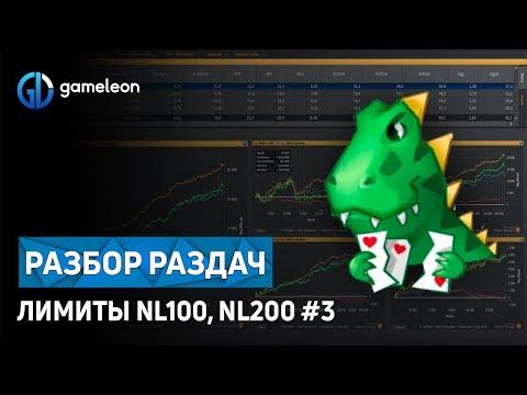 Обучение покеру: разбор раздач. Игра на лимитах NL 100, NL 200 (#3)