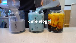 Sub)🧈버터처럼 부드럽게 녹아드는 카페브이로그❣️,ASMR,최블리,음료제조영상