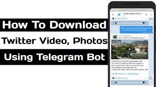 Gambar cover How To Download Twitter Videos, Photos Using Telegram Bot