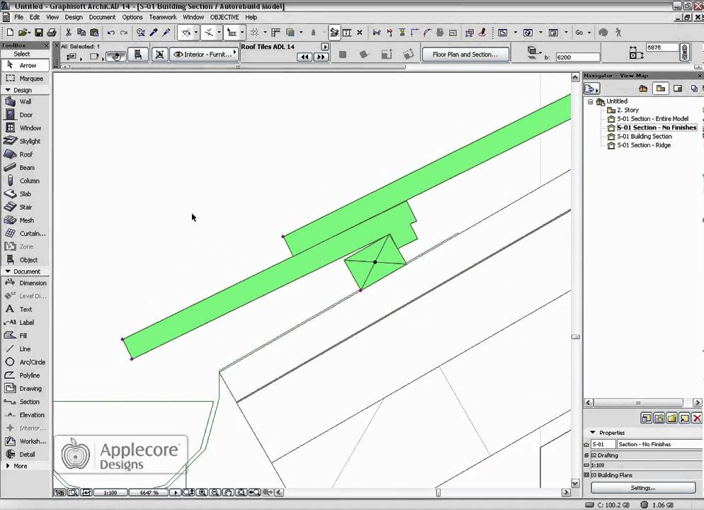 Archicad Object Roof Tile Object Youtube