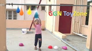 Colour Water balloon popping games for kids | water balloon fun video