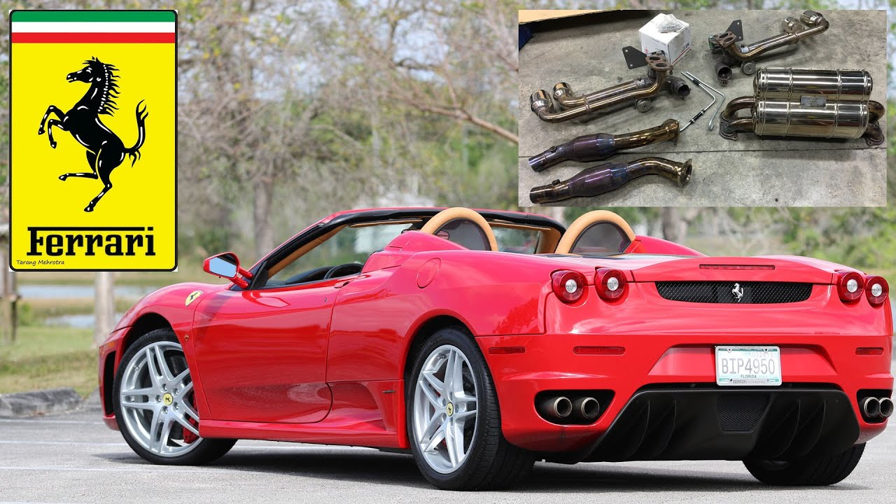 ferrari f430 spider capristo exhaust upgrade sounds and performance gains youtube. Black Bedroom Furniture Sets. Home Design Ideas