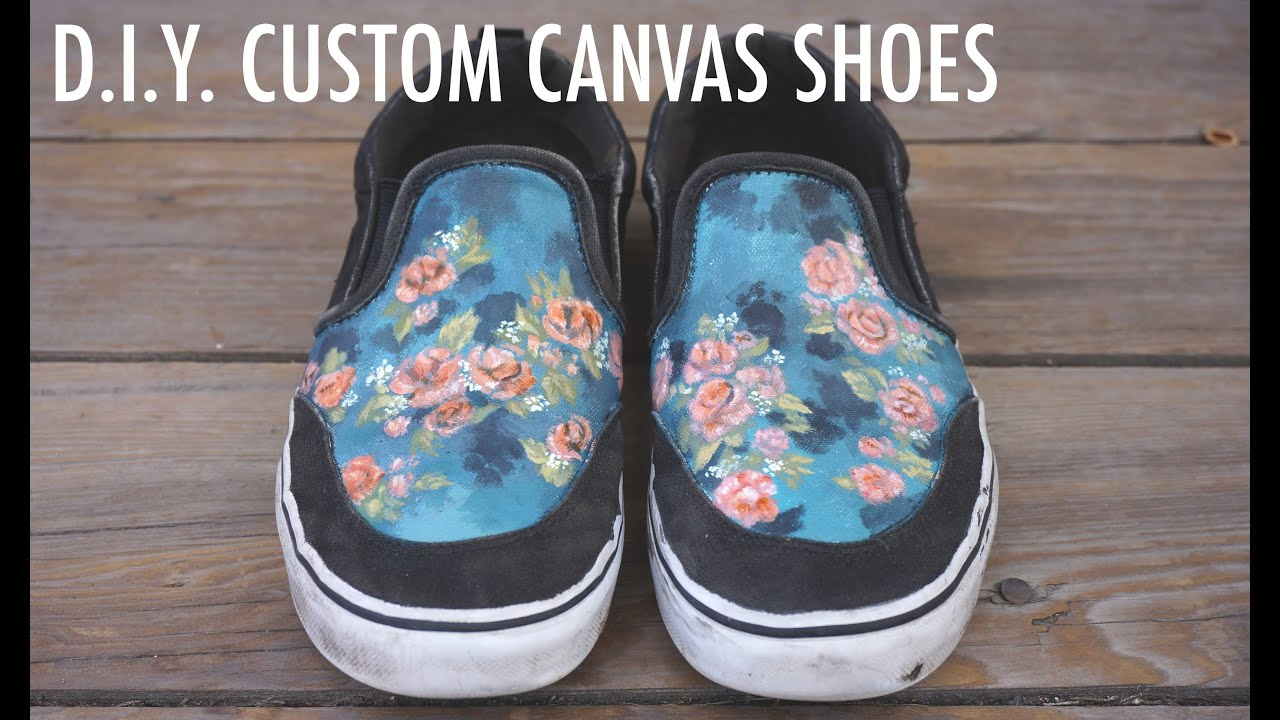 2019 year style- DIY Customized Tutorial: Slip-On Sneakers