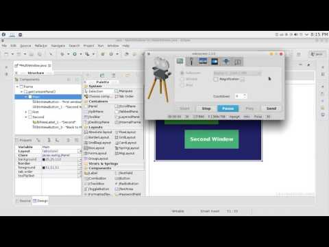 95 JAVA Swing GUI Multi windows