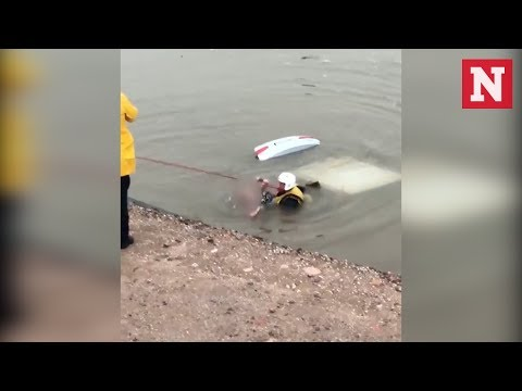 Firefighters Rescue Arizona Woman From Submerged Car