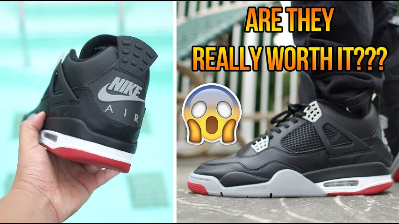 b4d85db0a9072 2019 AIR JORDAN LEATHER  BRED  4 EARLY REVIEW + ON FEET!!! - YouTube