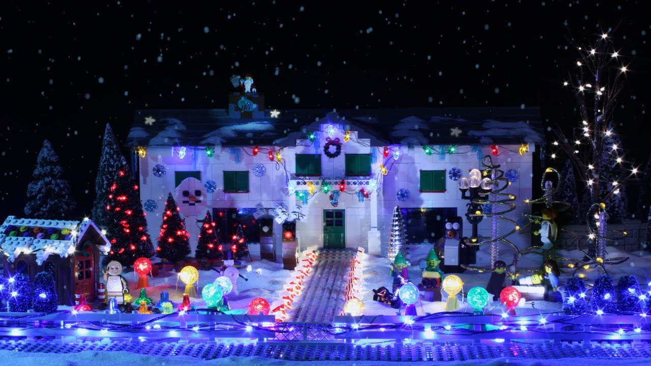 lego light show christmas brickfilm youtube