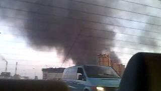 Пожар сегодня на юго-востоке Москвы