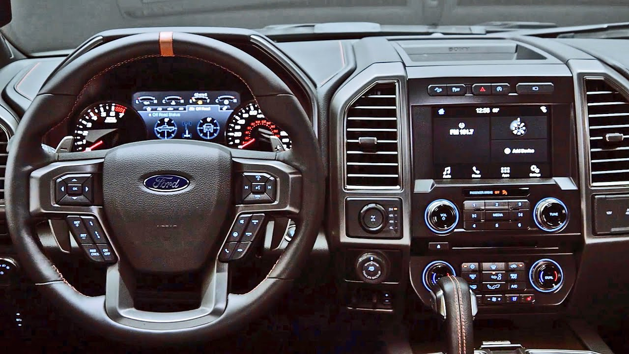 Interior 2017 Ford F 150 Raptor Youtube
