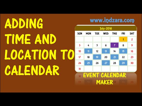 Event Calendar Maker - Excel Template - Adding Event Location And Time